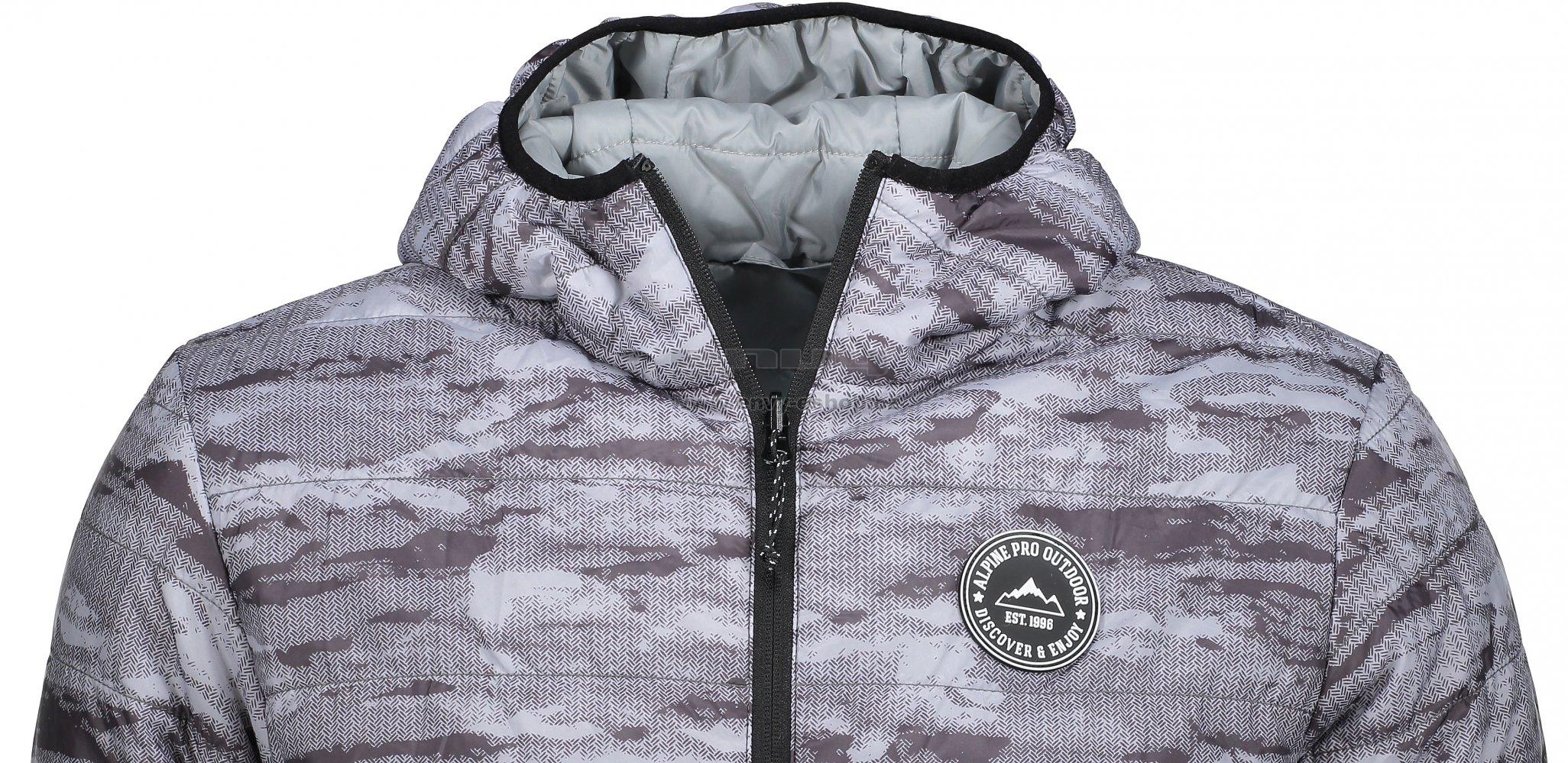 Pánská zimní oboustranná bunda ALPINE PRO HOPER MJCM326 ŠEDÁ ... 5838eed0599