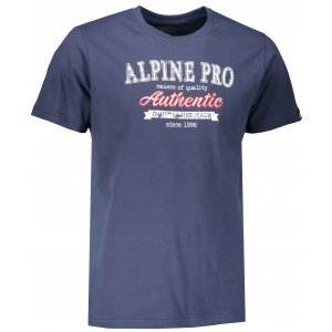 Pánské triko ALPINE PRO AMIT 4 MTSM309 TMAVĚ MODRÁ