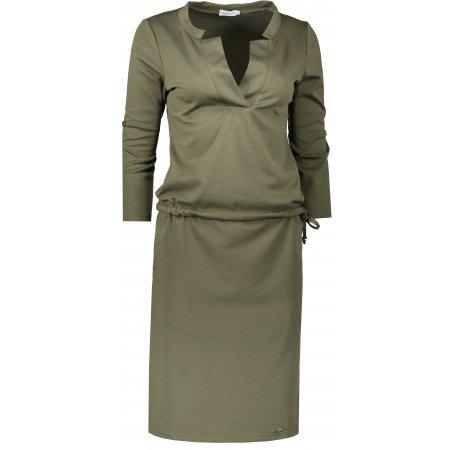 Dámské šaty NUMOCO A161-2 KHAKI