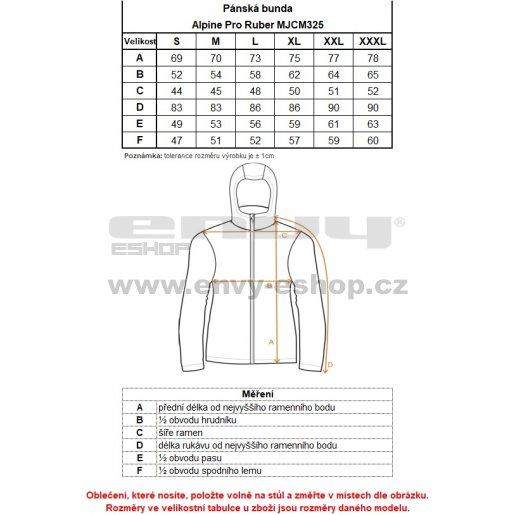 Pánská bunda ALPINE PRO RUBER MJCM325 ČERNÁ