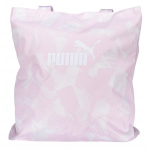 Dámská sportovní kabelka PUMA WMN CORE SHOPPER 07539801 WINSOME ORCHID/GRAPHIC