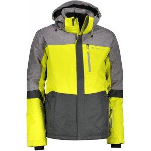 Pánská lyžařská bunda ALPINE PRO SARDAR 2 MJCM308 ŠEDOŽLUTÁ