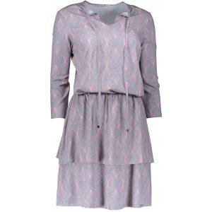 Dámské šaty s volánky NUMOCO 182-2 ŠEDÁ