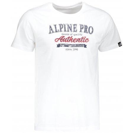 Pánské triko ALPINE PRO AMIT 4 MTSM309 BÍLÁ