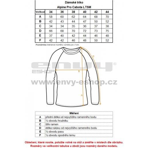 Dámské triko ALPINE PRO CABOTA LTSM444 TMAVĚ MODRÁ