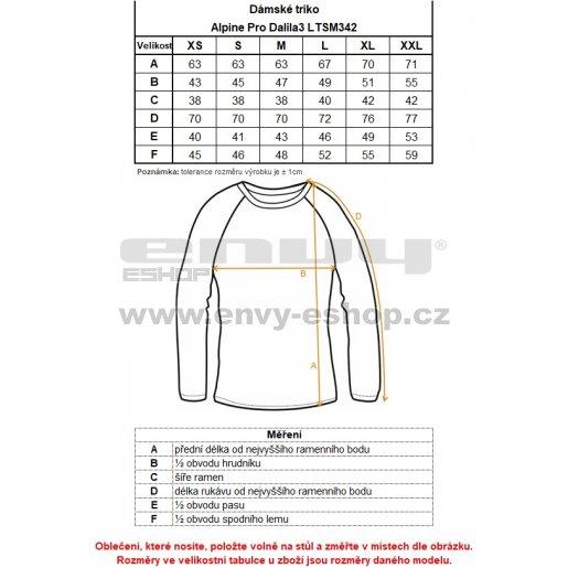 Dámské triko ALPINE PRO DALILA 3 LTSM342 MODRÁ