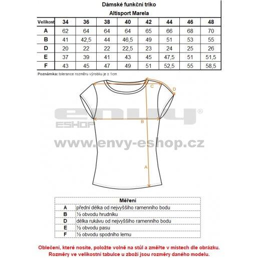 Dámské funkční triko ALTISPORT MARELA ALLS18069 ČERNÁ