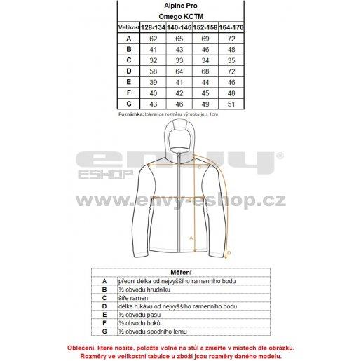 Dívčí zimní kabát ALPINE PRO OMEGO KCTM009 RŮŽOVÁ
