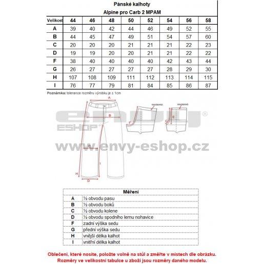 Pánské softshellové zateplené kalhoty ALPINE PRO CARB 2 INS MPAM150 ČERNÁ
