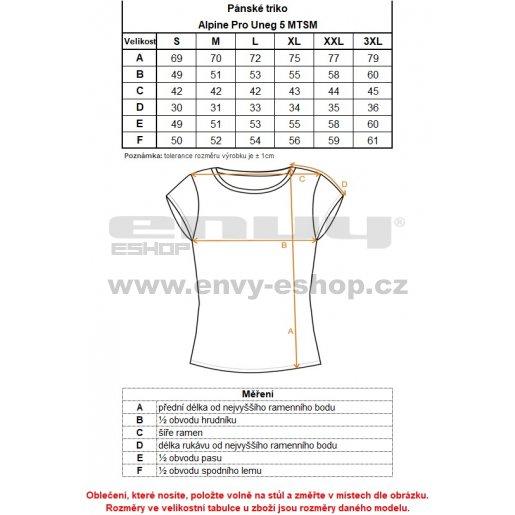 Pánské triko ALPINE PRO UNEG 5 MTSM306 MODRÁ