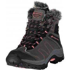 Dámské zimní boty ALPINE PRO BORKA LBTM175 TMAVĚ ŠEDÁ