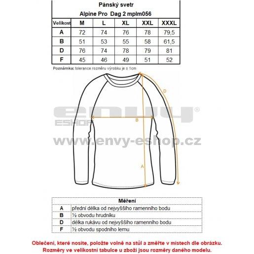 Pánský svetr ALPINE PRO DAG 2 MPLM056 ČERNÁ
