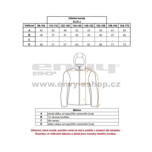 Chlapecké softshellová bunda KILPI ELIO-J IJ0331KI MODRÁ