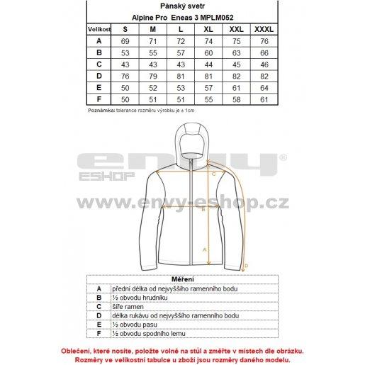 Pánský svetr ALPINE PRO ENEAS 3 MPLM052 SVĚTLE ŠEDÁ