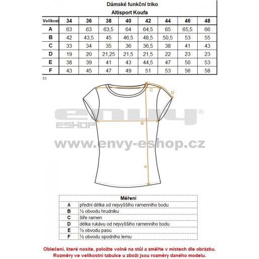 Dámské funkční triko ALTISPORT KOUFA ALLS18068 BÍLÁ