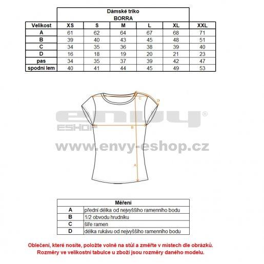 Dámské triko ALPINE PRO BORRA LTSM460 MODRÁ