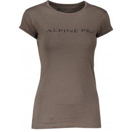 Dámské triko ALPINE PRO TRACTA LTSM459 KHAKI