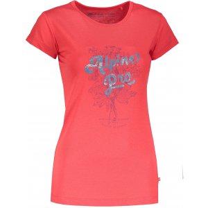Dámské triko ALPINE PRO SASHA 2 LTSM341 ČERVENÁ