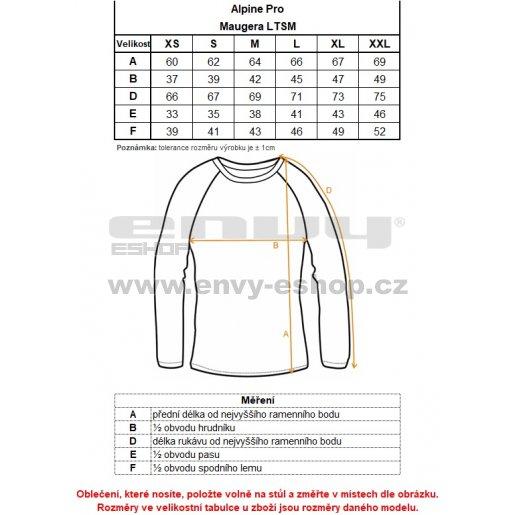 Dámské triko ALPINE PRO MAUGERA LTSM339 FIALOVÁ