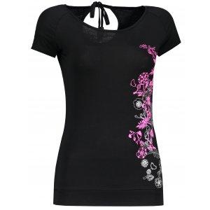 Dámské triko s krátkým rukávem ALTISPORT TONGUA ALLS18042 ČERNÁ