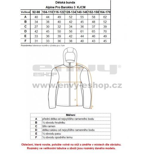 Dětská zimní bunda ALPINE PRO BAROKKO 3 KJCM112 MODRÁ