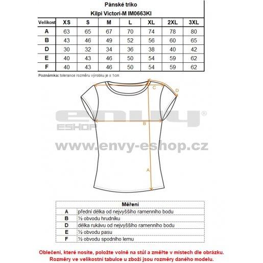 Pánské funkční triko s krátkým rukávem KILPI VICTORI-M IM0663KI MODRÁ