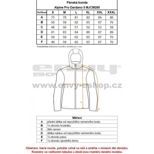 Pánská bunda ALPINE PRO DARDANO 5 MJCM285 TMAVĚ MODRÁ