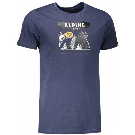 Pánské triko ALPINE PRO ABIC 5 MTSM305 TMAVĚ MODRÁ