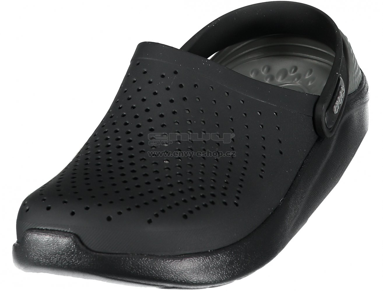 9baa851be Dámské pantofle CROCS LITERIDE CLOG 204592-0DD BLACK SLATE GREY ...
