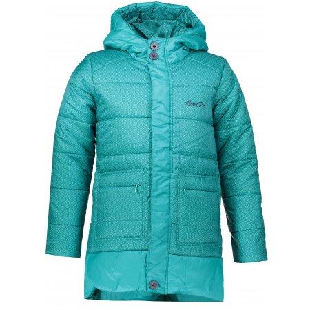 Dívčí zimní kabát ALPINE PRO OMEGO KCTM009 ZELENÁ
