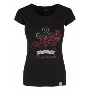 Dámské triko s krátkým rukávem KILPI FOXY-W IL0205KI ČERNÁ