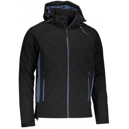 Pánská softshellová bunda ALPINE PRO NOOTK INS. MJCM280 ČERNÁ