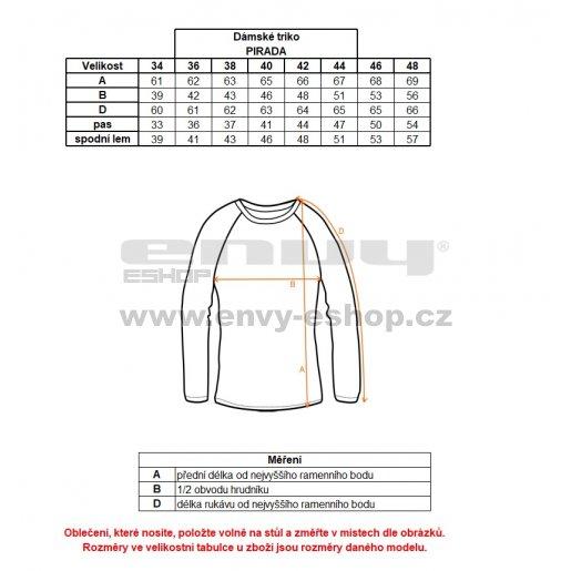 Dámské triko s dlouhým rukávem ALTISPORT PIRADA ALLS18039 MELÍR