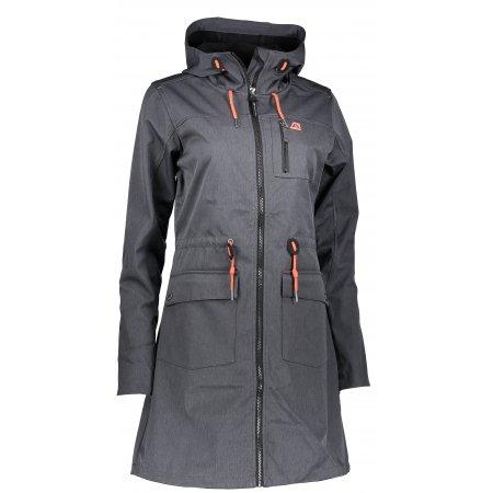 Dámský softshellový kabát ALPINE PRO GALA LCTM087 ČERNÁ