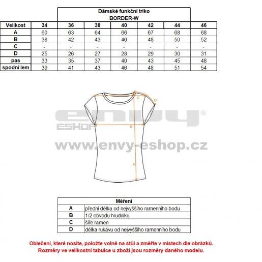 Dámské funkční triko s krátkým rukávem KILPI BORDER-W IL0066KI TMAVĚ ŠEDÁ
