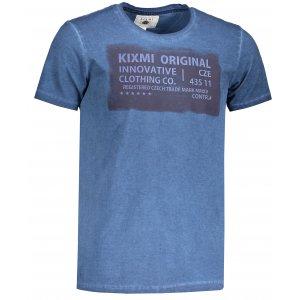 Pánské triko KIXMI GEORGE TMAVĚ MODRÁ