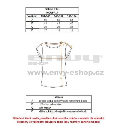 Dívčí funkční triko ALTISPORT KOUFA-J ALJS18068 ČERNÁ