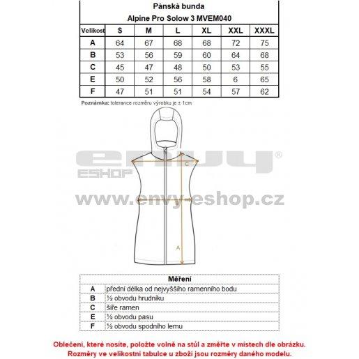Pánská vesta ALPINE PRO SOLOW 3 MVEM040 MODRÁ