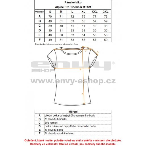 Pánské triko ALPINE PRO TIBERIO 6 MTSM310 ČERVENÁ