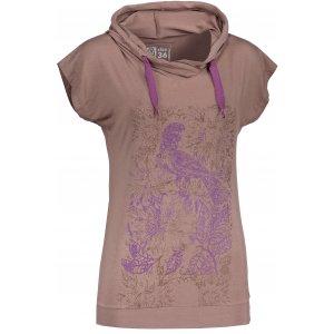 Dámské triko s krátkým rukávem ALTISPORT TIAGA ALLS18041 HNĚDÁ