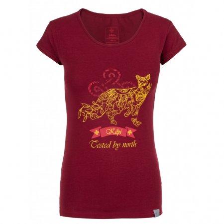 Dámské triko s krátkým rukávem KILPI FOXY-W IL0205KI TMAVĚ ČERVENÁ