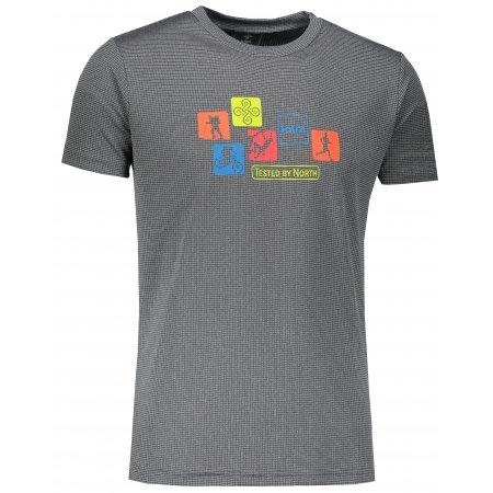 Pánské funkční triko s krátkým rukávem KILPI GIACINTO-M IM0110KI TMAVĚ ŠEDÁ