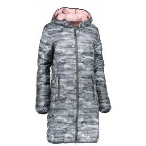 Dámský kabát ALPINE PRO ARICA LCTM085 TMAVĚ ŠEDÁ