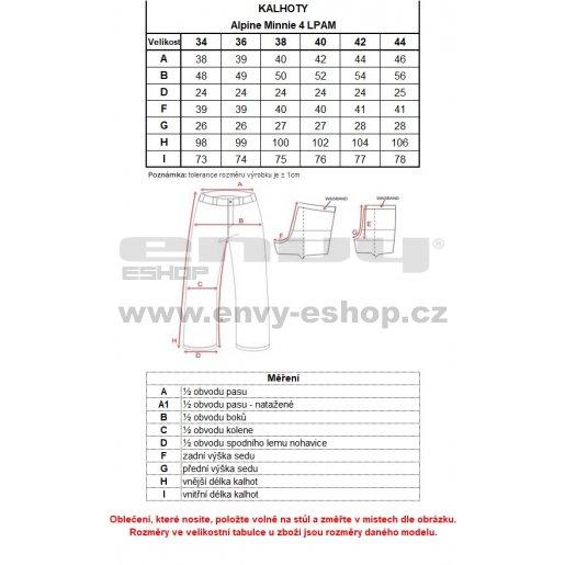 Dámské lyžařské kalhoty ALPINE PRO MINNIE 4 LPAM280 TMAVĚ MODRÁ