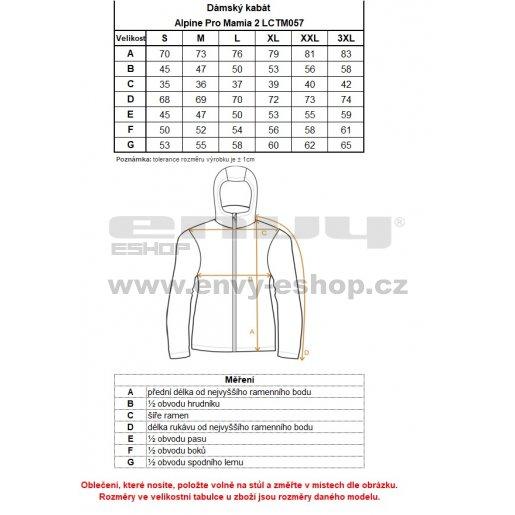 Dámský softshellový kabát ALPINE PRO MAMIA 2 LCTM057 ČERNÁ