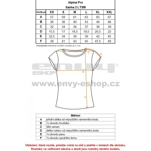 Dámské triko ALPINE PRO SASHA 2 LTSM341 ČERNÁ VZOR