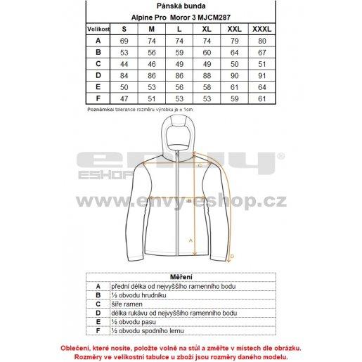 Pánská bunda ALPINE PRO MOROR 3 MJCM287 TMAVĚ MODRÁ