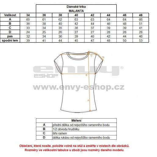Dámské triko s krátkým rukávem ALTISPORT MALANTA ALLS18036 BÍLÁ