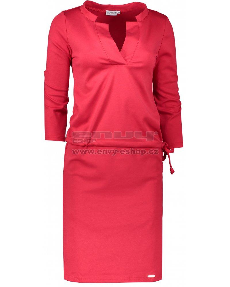 d2bc4e5f14b8 Dámské šaty NUMOCO A161-11 ČERVENÁ velikost  S   ENVY-ESHOP.cz