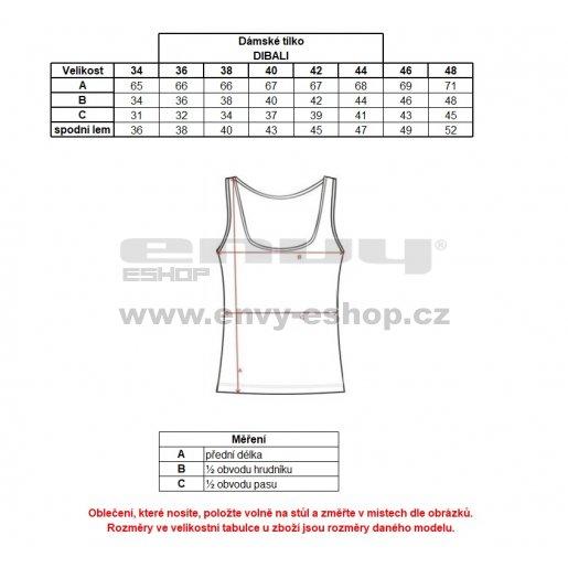 Dámské funkční triko ALTISPORT DIBALI ALLS18067 ČERNÁ